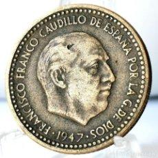 Monedas Franco: ⚜️ 1 PESETA 1947 *49. AC584. Lote 261639410