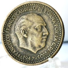Monedas Franco: ⚜️ 1 PESETA 1947 *49. AC583. Lote 261639590
