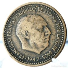 Monedas Franco: ⚜️ 1 PESETA 1947 *49. AC582. Lote 261639610