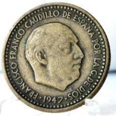 Monedas Franco: ⚜️ 1 PESETA 1947 *49. AC581. Lote 261639635