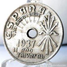 Monedas Franco: ⚜️ 25 CÉNTIMOS 1937. AC578. Lote 261639770