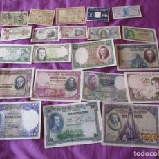 Monedas Franco: ESPAÑA 21 BILLETES ESPAÑOLES. ALGUNOS DE PUEBLOS , CIUDADES. Y HAY ALGUNO PLANCHA.. Lote 261645610
