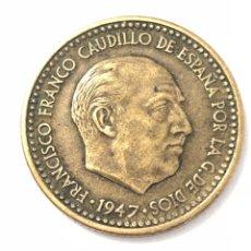 Monedas Franco: MONEDA DE 1 PESETA DE 1947 ESTRELLA DEL 48.EBC.MUY DIFÍCIL DE ENCONTRAR EN ESTE ESTADO.. Lote 261869655