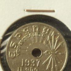 Monedas Franco: MONEDA DE 25CTS DE 1937 S/C. Lote 261912435