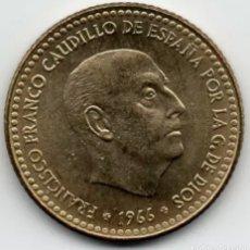 Monedas Franco: MONEDA DE 1 PESETA SC ESPAÑA AÑO 1966 ESTRELLA 75. Lote 262696810