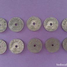 Monedas Franco: LOTE 10 MONEDAS ANTIGUAS 25 CENTIMOS AÑO 1937 II AÑO TRIUNFAL ESPAÑA. Lote 263208960