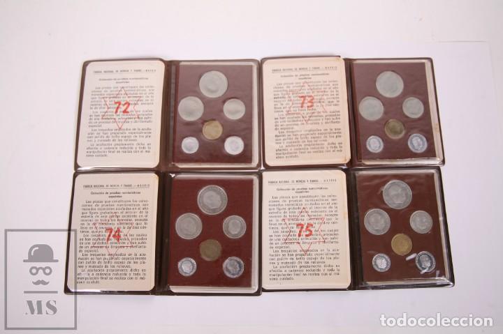 CONJUNTO DE CARTERAS PESETAS FRANCO SIN CIRCULAR - FNMT - AÑOS 1972, 1973, 1974 Y 1975 (Numismática - España Modernas y Contemporáneas - Estado Español)