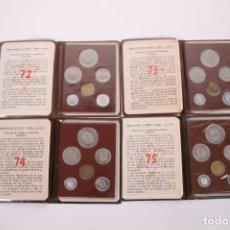 Monedas Franco: CONJUNTO DE CARTERAS PESETAS FRANCO SIN CIRCULAR - FNMT - AÑOS 1972, 1973, 1974 Y 1975. Lote 263266530