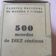 Monedas Franco: CAJA DE 500 MONEDA 10 CENTIMOS 1959. Lote 263270860