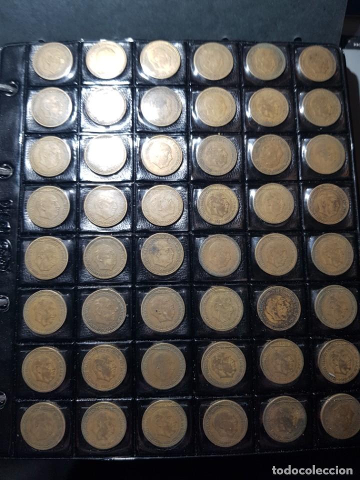 Monedas Franco: ALBÚM 330 MONEDAS (GIROS,DESPLAZADAS,REPINTES,EMPASTES,EXCESO METAL,INCUSAS,SEGMENTADAS,CUÑO PARTIDO - Foto 2 - 264230228