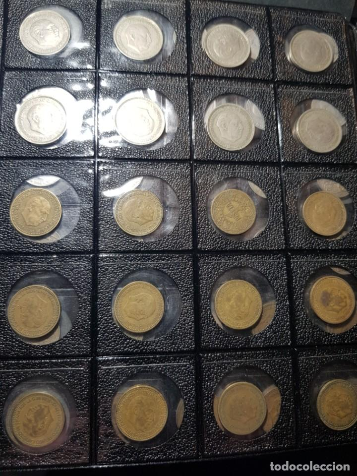 Monedas Franco: ALBÚM 330 MONEDAS (GIROS,DESPLAZADAS,REPINTES,EMPASTES,EXCESO METAL,INCUSAS,SEGMENTADAS,CUÑO PARTIDO - Foto 3 - 264230228