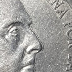 Monedas Franco: 100 PESETAS PLATA 1966 (*67) DOBLE PERFIL FRENTE,OREJA,NARIZ, BOCA Y BARBILLA ESCASA VARIANTE. Lote 264233500