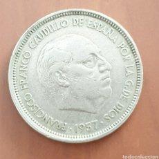 Monedas Franco: 50 PESETAS 1957 *58 MBC. Lote 265347509