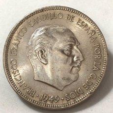 Moedas Franco: DURO CABEZON DE 1949 ESTRELLA 50. EBC. Lote 267460504