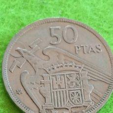Moedas Franco: ANTIGUA MONEDA DE 50 PESETAS DE FRANCO DE 1957 ESTRELLA 60 MUY BIEN CONSERVADA. Lote 267560614