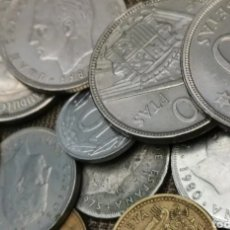 Monedas Franco: GRAN LOTE DE 2.000 GRAMOS DE MONEDAS ESPAÑOLAS.. MUCHA VARIEDAD. DE FRANCO Y DEL REY. MIRAR FOTOS.. Lote 262817875