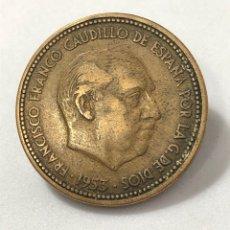Monedas Franco: MONEDA DE 2,50 PESETAS DE 1953 ESTRELLA 54.. Lote 268742099
