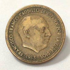 Monedas Franco: MONEDA DE 2,50 PESETAS DE 1953 ESTRELLA 54.. Lote 268747464