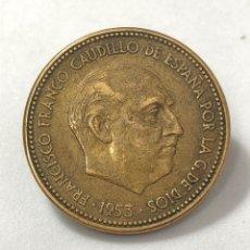 Monedas Franco: MONEDA DE 2,50 PESETAS DE 1953 ESTRELLA 56.. Lote 268767534