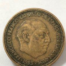 Monedas Franco: MONEDA DE 2,50 PESETAS DE 1953 ESTRELLA DEL 56.. Lote 268815794