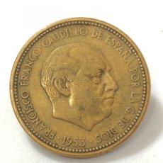 Monedas Franco: MONEDA DE 2,50 PESETAS DE 1953 ESTRELLA DEL 56.. Lote 268816454
