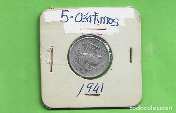 ESPAÑA. 5 CÉNTIMOS 1941. ALUMINIO (Numismática - España Modernas y Contemporáneas - Estado Español)