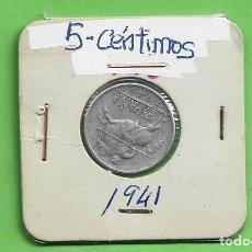 Monedas Franco: ESPAÑA. 5 CÉNTIMOS 1941. ALUMINIO. Lote 268899369