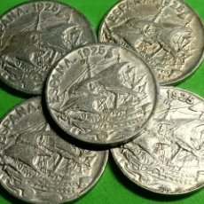 Monedas Franco: LOTE 5 ANTIGUAS MONEDAS DE 25 CENTIMOS DE 1925..LAS DEL BARCO. Lote 269015674