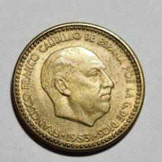 Monedas Franco: ESPECTACULAR MUY COTIZADA EN ESTE ESTADO 1 PESETA 1953 *60 EBC+. Lote 269162163