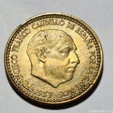 Monedas Franco: 1 PESETA 1953 *62 EBC+ Y CON ERROR , SE GRABA POR EL REVERSO LO QUE HAY EN EL ANVERSO, MUY COTIZADA. Lote 269162948