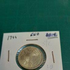 Monedas Franco: ESPAÑA ESTADO ESPAÑOL 1944 UNA PESETA SÍN CIRCULAR NUMISMÁTICA COLISEVM. Lote 269617543