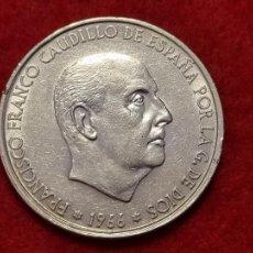 Monedas Franco: MONEDA 100 PESETAS PLATA FRANCO 1966 ESTRELLAS VISIBLES 19 70 EBC- ORIGINAL C3. Lote 270617313