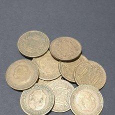 Monedas Franco: LOTE DE 10 MONEDAS DE 1 PESETA 1953 *61. Lote 270657133