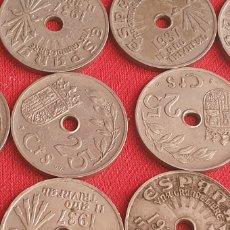 Monedas Franco: LOTE DE MONEDAS ESPAÑA 25 CTS GRANDE LIBRE AÑOS 1936 .HAY 98. Lote 271114188