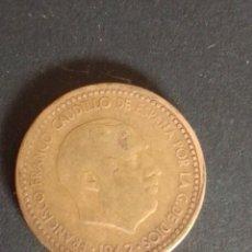 Monedas Franco: ESTADO ESPAÑOL. 1 PESETA. 1947. *19*56* EL 6 ALGO FLOJO PERO VISIBLE.. Lote 275134058