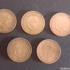 Monedas Franco: ESTADO ESPAÑOL. 1 PESETA. 1963. LOTE CON LOS 5 TIPOS. ESTRELLAS BIEN MARCADAS.. Lote 275136453