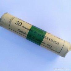 Monedas Franco: CARTUCHO 50 CENTIMOS AÑO 1963 ESTRELLA 64 FNMT, 50 MONEDAS SIN CIRCULAR. Lote 275168953