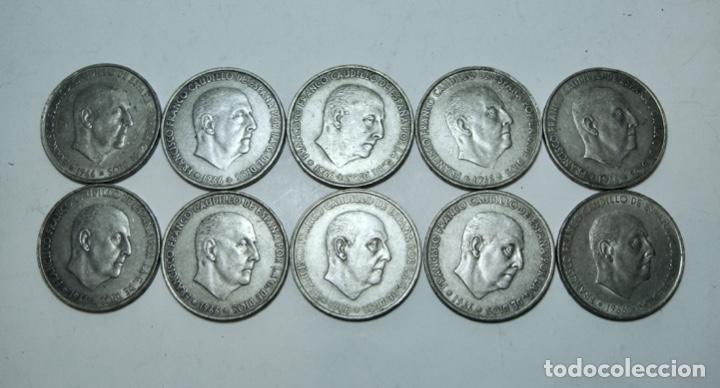 LOTE DE 10 MONEDAS DE 100 PESETAS. PLATA. FRANCO. 1966 (Numismática - España Modernas y Contemporáneas - Estado Español)