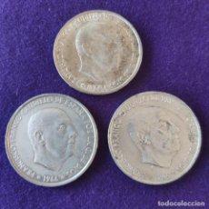 Monedas Franco: 3 MONEDAS DE 100 PESETAS PLATA FRANCO. ORIGINALES. 1966 *66-67-68.. Lote 275757968