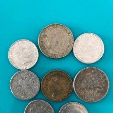 Monedas Franco: LOTE 8 MONEDAS ESTADO ESPAÑOL. FRANCO.. Lote 276525838