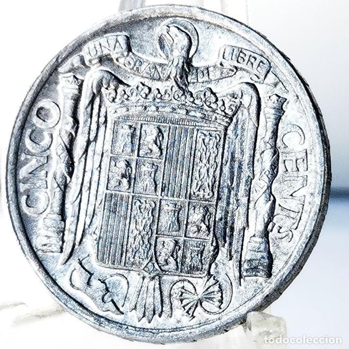 Monedas Franco: ⚜️ A2201. SIN CIRCULAR MENOS. Manchitas. 5 céntimos 1940 - Foto 2 - 276800758