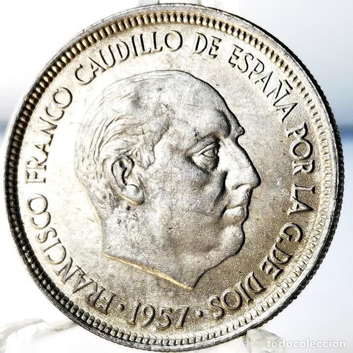 Monedas Franco: ⚜️ A2200. SIN CIRCULAR MENOS / SC. 5 pesetas 1957 *68 - Foto 2 - 276800883