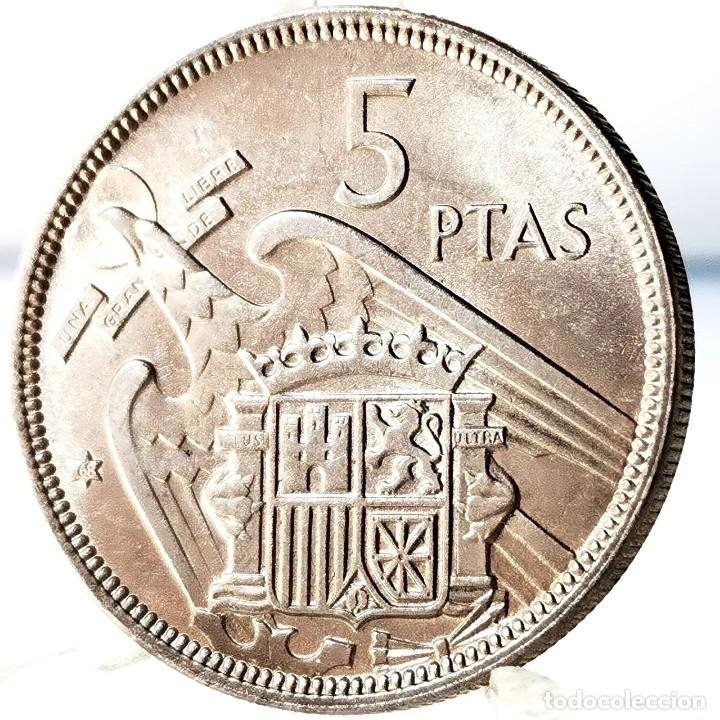 Monedas Franco: ⚜️ A2200. SIN CIRCULAR MENOS / SC. 5 pesetas 1957 *68 - Foto 3 - 276800883