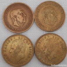Monedas Franco: LOTE 4 MONEDAS PESETA FRANCO 1966 EST.. 70 Y 76 Y JUAN CARLOS 1975 ESTRELLAS 80 Y 78-. Lote 277141603