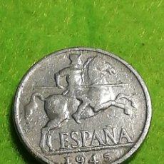 Monedas Franco: 10 CÉNTIMOS DE ALUMINIO DE 1945. Lote 277199613