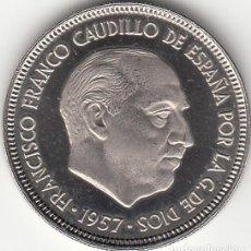 Monedas Franco: ESTADO ESPAÑOL: 5 PESETAS 1957 ESTRELLAS 19-75 PROCEDENTE CARTERA / FDC. Lote 277499678