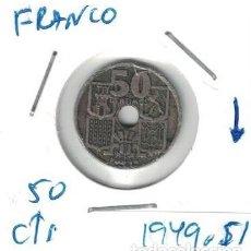 Monedas Franco: MONEDAS - GENERAL FRANCO - 50 CENTIMOS 1949 *51 FLECHAS INVERTIDAS. Lote 277525558