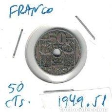 Monedas Franco: MONEDAS - GENERAL FRANCO - 50 CENTIMOS 1949 *51. Lote 277526133