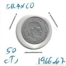 Monedas Franco: MONEDAS - GENERAL FRANCO - 50 CENTIMOS 1966 *67. Lote 277527968