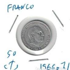 Monedas Franco: MONEDAS - GENERAL FRANCO - 50 CENTIMOS 1966 *71. Lote 277528133